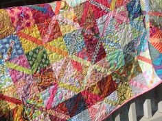 Scrappity-Do-Dah quilt - love it!  Another stash buster.  Pattern can be found here:  http://www.mccallsquilting.com/content_downloads/scrappity_web.pdf