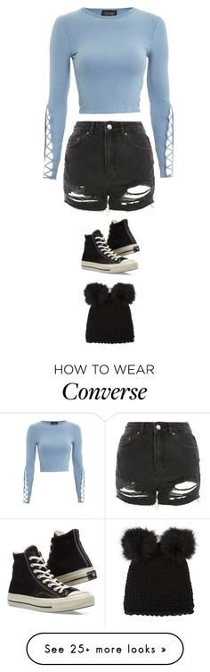 """Untitled #5398"" by twerkinonmaz on Polyvore featuring Topshop, Converse and Barneys New York"