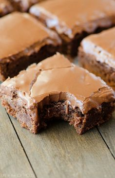 Lunch Lady Brownies - These are the most incredible and easy brownies! Everyone asks for this recipe :D