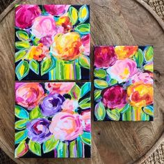Learn the easy way to paint abstract flowers with acrylic paint on canvas with artist Elle Byers. Easy flower painting tutorials with step by step instructions for beginners. Abstract Portrait Painting, Acrylic Painting Flowers, Abstract Flowers, Acrylic Painting Canvas, Flower Paintings, Portrait Paintings, Art Paintings, Abstract Art, Mini Canvas Art