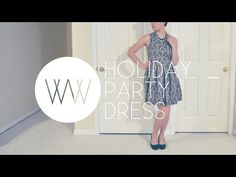 How to Make a Holiday Party Dress - YouTube
