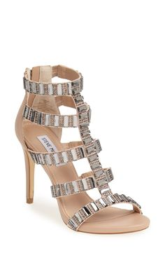 These stunning crystal encrusted sandals are sure to turn heads.