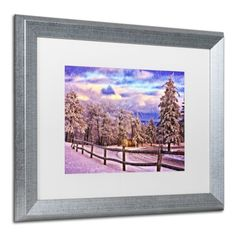 Trademark Fine Art On Top of Old Blue Knob by Lois Bryan, White Matte, Silver Frame 16x20-Inch