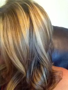 Blond highlights for summer.