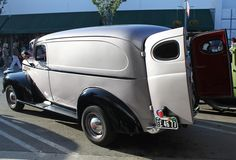 A Great Shape A'La Art Deco Highlight This 1946 Chevy Panel Truck by trail trekker, via Flickr