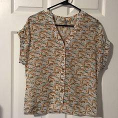 Sheer Bird Printed Top Sheer short sleeve bird printed top from Charlotte Russe. Never worn. New. Size Medium! ☺️ Charlotte Russe Tops Blouses