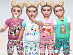 Sims 4 CC's - The Best: Sweet Dreams Pyjama Collection by Pinkzombiecupcak...