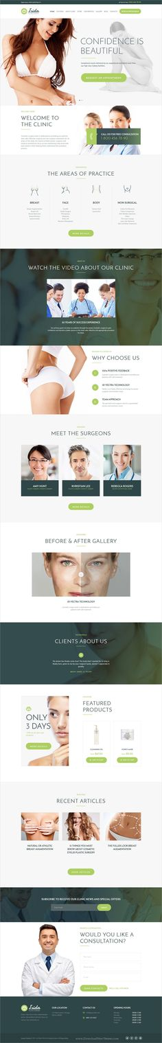 Isida is a dynamic 4in1 responsive #WordPress theme for plastic #surgery clinic, #hospital or medical organizations website download now➩ https://themeforest.net/item/isida-plastic-surgery-clinic-medical-wordpress-theme/18911053?ref=Datasata