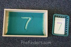 sand tray number writing