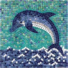 DIY Dolphin Mosaic with ceramic tiles - Delfin mit Mosaik Basteln - Dauphin en mosaique - Alea Mosaik Craft Kit - Mosaic Stories