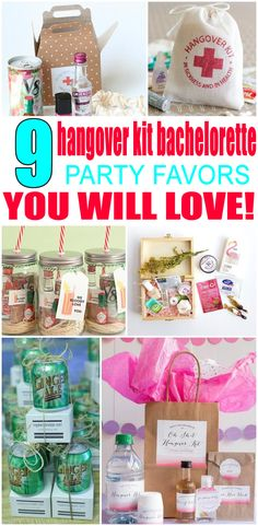 Hangover Kits Bachelorette Party Favors! Get Hangover Kits inspired bachelorette party ideas. Great for bridal showers, weddings and bachelorette party themes! Get DIY ideas & more. Any bride will love these ideas. Find alcohol, bags, hangover kits, survival kits that are classy and go for expensive to cheap. Get cool Hangover Kit wedding theme ideas now!