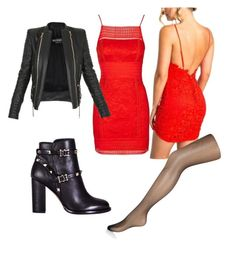 """""""Night"""" by belen-lillo on Polyvore featuring Balmain, Valentino and Accessorize"""