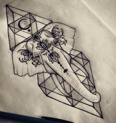 dessin tatouage géométrique éléphant #polynesiantattoos #polynesiantattoosforearm #TattooIdeasForearm