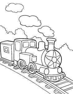 The Smoke Train Coloring Pages - Transportation Coloring Pages : KidsDrawing – Free Coloring Pages Online