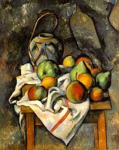 Paul Cézanne - Ginger Jar and Fruit, 1895 at the Barnes Foundation Philadelphia PA Post impressionism Renoir, Cezanne Art, Paul Cezanne Paintings, Impressionist Art, Still Life Art, French Artists, Art World, Manet, Painting & Drawing