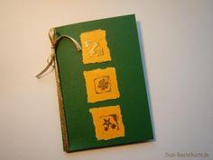 Glückwunschkarte Grün-Gold