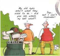 Golf humor with two men. More funny golf stuff at #lorisgolfshoppe