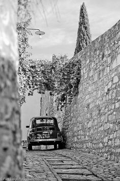 Pier Luigi Pacetti ~  Little Fiat 500 in Spello, ancient town of Italy, in the province of Perugia