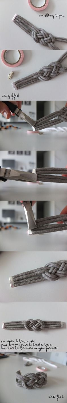 Bracelet Noeud  Retrouvez tout le matériel pour le DO IT YOURSELF sur www.la-petite-epicerie.fr: