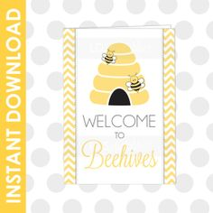 Super cute welcome To Beehives Printable Card and Print. LDS Young Women #LDS #LDSYOUNGWOMEN