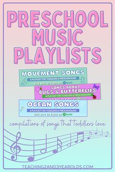 This collection of toddler and preschool songs contains playlists for the entire year! Perfect for circle time, music and movement, with instruments, and even when you are wanting to calm your classroom. #toddlers #preschool #music #songs #playlists #movement #circletime #classroom #teachers #spotify #2yearolds #3yearolds #teaching2and3yearolds Movement Songs For Preschool, Preschool Circle Time Songs, Circle Time Activities, Preschool Music, Preschool Learning Activities, Movement Activities, Toddler Activities, Teaching Ideas, Classroom Playlist