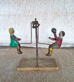 Antique toy swing
