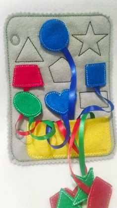 Felt shapes quiet book page 9 different by itsthesmallthings, $11.00 Inspiration!