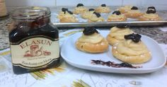 #Zeppole di San Giusseppe con mermelada de frambuesa y moras de las barbastrenses Elasun