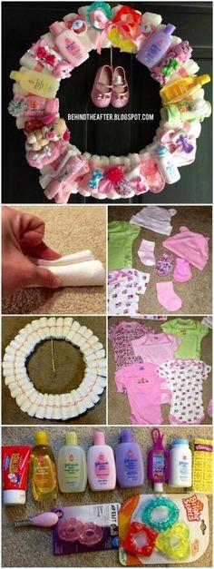 DIY Windelkranz als Geschenk zur Geburt
