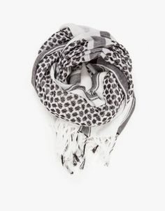 Mixed pattern scarf from Just Female