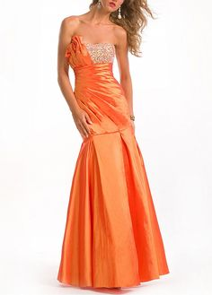 Platinum and Pumpkin Spice Mermaid Floor Length Sweetheart Low Back Sexy Dress With Beads Ruche Orange Homecoming Dresses, Orange Formal Dresses, Orange Evening Dresses, Camo Prom Dresses, Orange Cocktail Dresses, Orange Bridesmaid Dresses, Wedding Dresses Plus Size, Mermaid Prom Dresses, Orange Dress