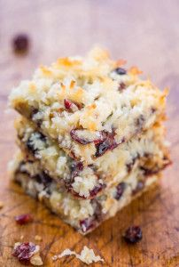 cranberry bars with coconut