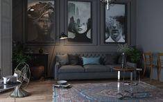 Дизайн проект гостиной Проект для молодой и творческой семьи, гостиная для отдыха и релаксации,лаконичная и стильная,основное пожелание заказчиков создать не стандарт,творческую атмосферу.