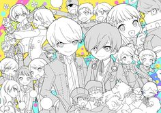 Persona 3 and 4 character Sing For You, Give It To Me, Jrpg Games, Persona Crossover, Yu Narukami, Jojo Stands, Persona Q, Shin Megami Tensei Persona, Writing Art