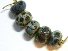 Lampwork Beads Borosilicate SEDONA Two Sisters Designs 021015C by TwoSistersDesignss on Etsy