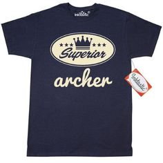 Inktastic Archer Vintage Superior T-Shirt Gift Retro Crown Hobby Archery Hunting Sports Mens Adult Clothing Apparel Tees T-shirts Hws, Size: 4XL, Blue