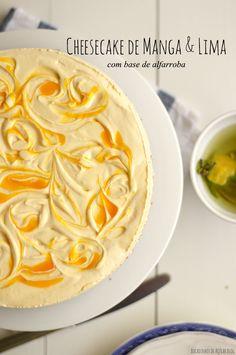 Bocadinhos de Açúcar: Cheesecake de Manga com base de alfarroba