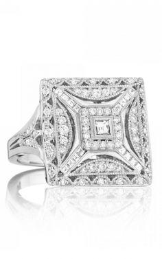 Tacori Classic Crescent FR802 | platinum diamond fashion rings Like Capri Jewelers Arizona on Facebook for A Chance To WIN PRIZES ~ www.caprijewelersaz.com