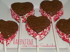 Valentine Ice Cream Sandwiches