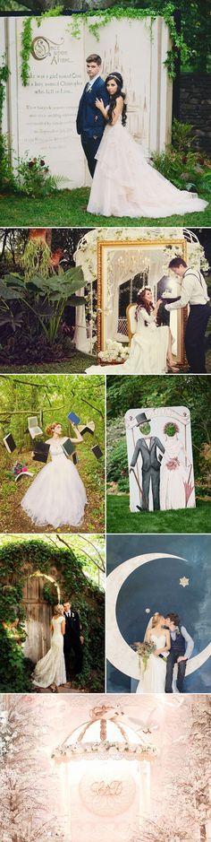 Oh Snap! 45 Creative Wedding Photo Backdrops - Fairytale Theme!