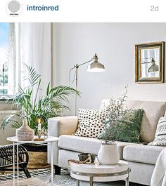 Livingroom styling by @stilreda at IntroInred