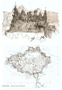 Castle Number 3: Castle Iventorr by Built4ever map cartography | NOT OUR ART please click artwork for source | WRITING INSPIRATION for Dungeons & Dragons DND Pathfinder PFRPG Warhammer 40k Star Wars Shadowrun Call of Cthulhu and other d20 RPG fantasy science fiction scifi horror game design | CREATE YOUR OWN roleplaying game material w/ RPG Bard at www.rpgbard.com