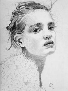 White Drawings by Bruno Maiorano