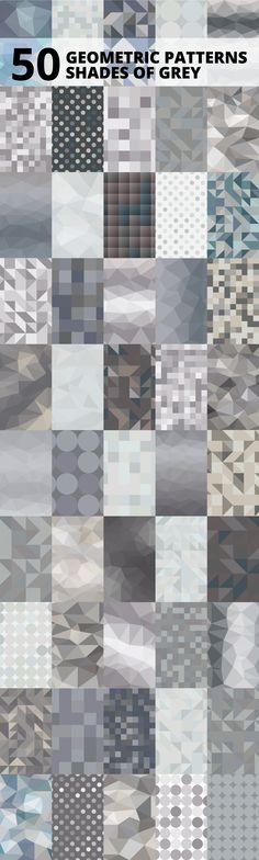 50 Shades of Grey Geometric Patterns