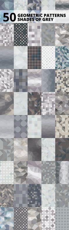 50 Shades of Grey Geometric Patterns