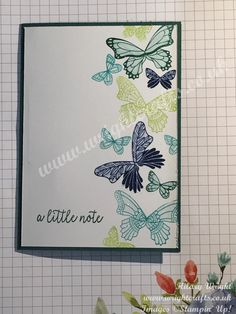 Butterfly Gala notelets from Stampin' Up! Spring / Summer Catalogue – … Butterfly Gala notelets from Stampin' Up! Spring / Summer Catalogue – see more at www. Butterfly Cards Handmade, Scrapbook Designs, Scrapbooking Layouts, Card Patterns, Scrapbook Cards, Couple Scrapbook, Homemade Cards, Stampin Up Cards, Note Cards