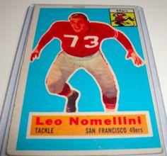 1956 Leo Nomellini Topps #74 for $ 15.00 | The Baseball Card Store Network