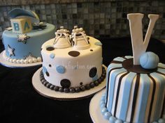 Cute baby shower cakes for a boy. Love these! :)