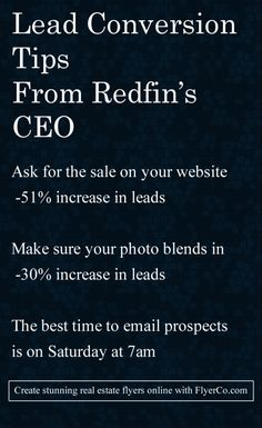 Redfin revealed AMAZING real estate lead generation tactics http://flyerco.com…