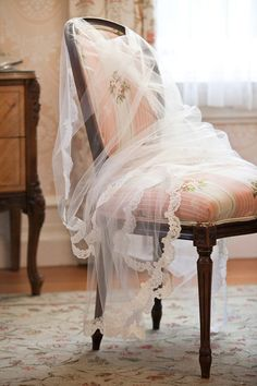 Ethereal fabric & beautifully covered chair